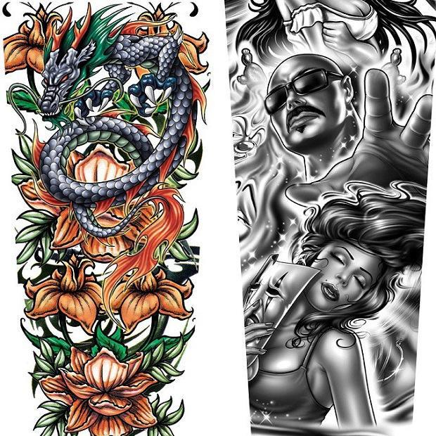 Rękawy z Tatuażem