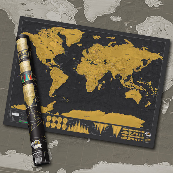 Mapa Zdrapka Deluxe