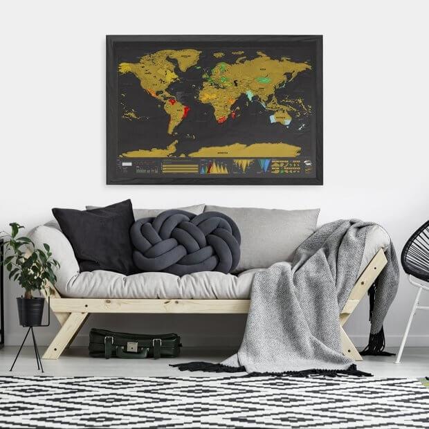 Mapa Zdrapka Deluxe XXL