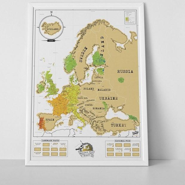 Prezent Dla Niego Mapa Zdrapka Europa Ministerstwogadzetow Com