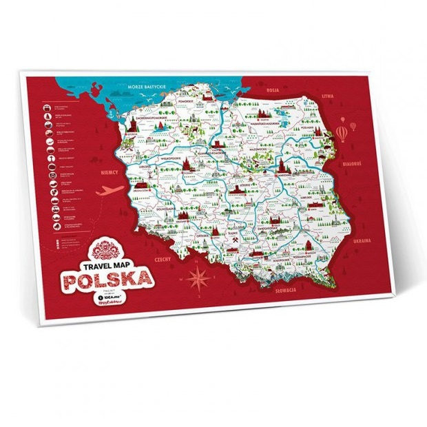 Mapa Zdrapka Polska
