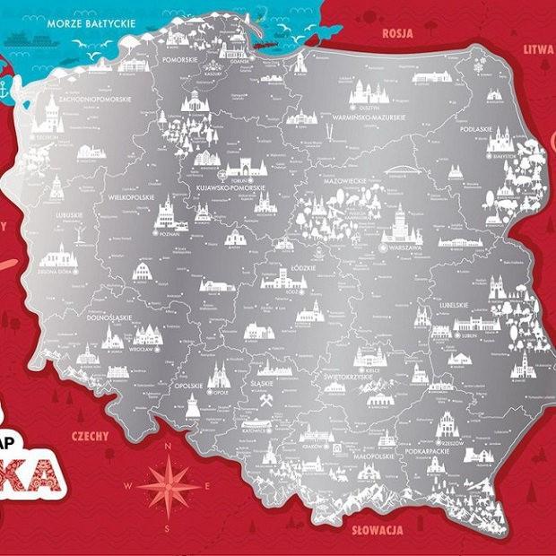 Mapy Zdrapki Mapa Zdrapka Polska Ministerstwogadzetow Com