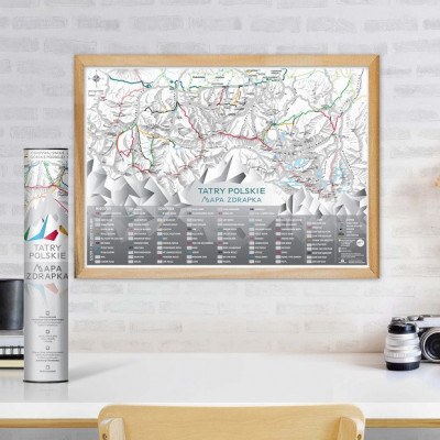 Mapa Zdrapka Tatry