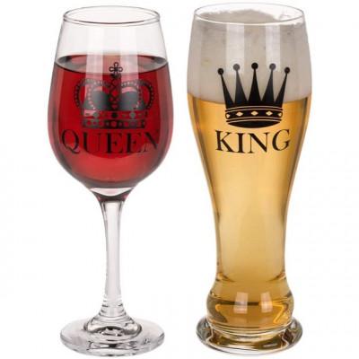 Szklanki dla Pary Król i Królowa