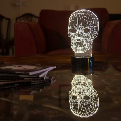 Lampa Czaszka 3D