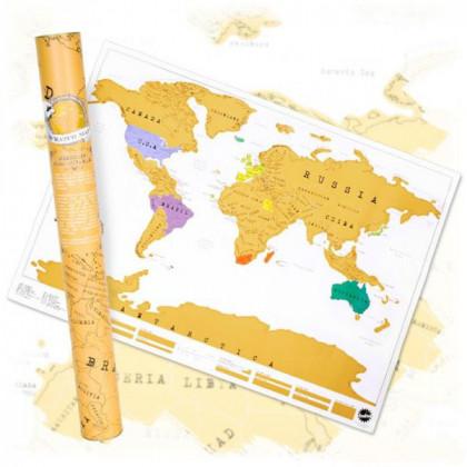 Mapa Zdrapka - Prezent dla Globtrotera