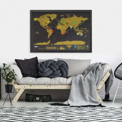 mapa zdrapka - prezent dla podroznika