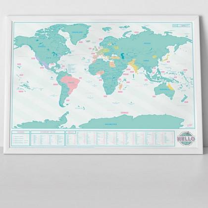 Mapa Zdrapka Hello