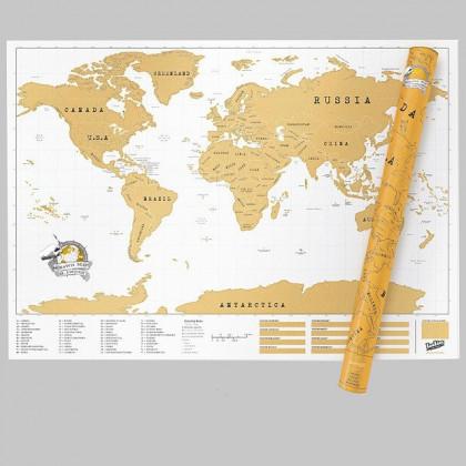 Mapa Zdrapka XXL