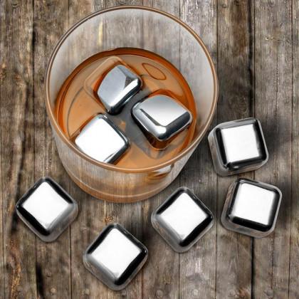 Metalowe Kostki Lodu - Prezent dla wielbicieli whisky