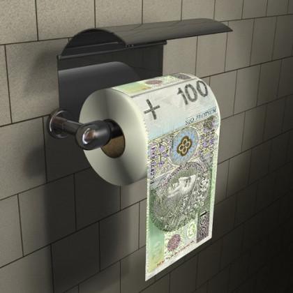 Papier Toaletowy 100zł - Śmieszne Prezenty