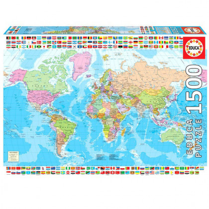 Puzzle Mapa Świata 1500