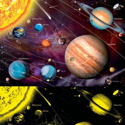 Neonowe Puzzle Układ Słoneczny 1000