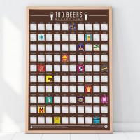 100 Najlepszych Piw - Poster Zdrapka