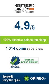 Ocena ogólna dla Ministerstwogadzetow.com to 4.9/5 - Sprawdź opinie na Opineo.pl
